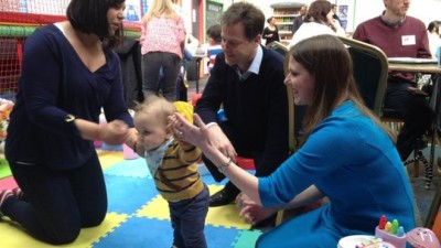 Nick Clegg and Jo Swinson promote plans for more 'daddy leave'. Photo: BBC